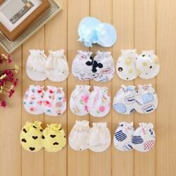 Baby Gloves Anti Scratch Face Hand Guards Protection Soft Newborn Mittens Sleeve $1.70