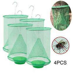 4X Pest Control Fly Insect Trap Reusable Hanging Folding Catcher Net Killer Cage $16.47