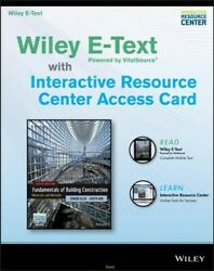 Fundamentals of Building Construction Wiley E-text with Interactive Resource ... $91.81