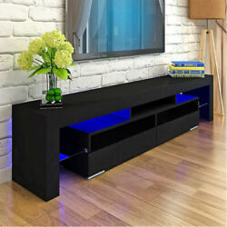 Modern Black 63in High Gloss TV Cabinet Stand Unit Console LED Light for 70in TV $167.99