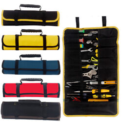 1PC Multifunctional Tool Roll Bag Chisel Reel Rolling Repairing Tool Pouch Bags $9.15