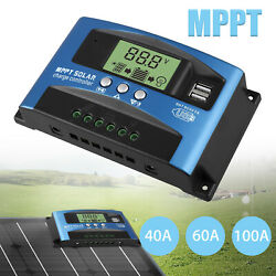 20 30 60 100A Solar Panel Regulator Charge Controller 12 24V Auto Focus Tracking $27.98