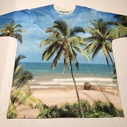 Palm Tree Tropical Beach All Over Print Graphic Size XL $7.95