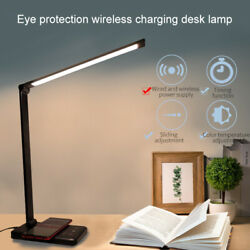 Folding Touch 5 Files Dimming Wireless Charging LED Aluminum Alloy Desk Lamp $42.10