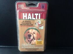 Halti Dog Head Collar Dog Size 3 Stop Pulling with Safety Strap Black  $9.99