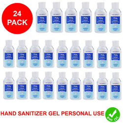 Hand Sanitizer Gel 75% Alcohol Meets WHO CDC Standards Scent Free 2oz 24 PACK $23.99
