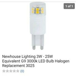 Newhouse Lighting 3W - 25W Equivalent G9 with base Bulb Halogen Replacement 3025 $9.99