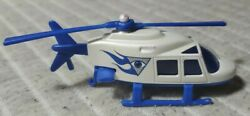 Vintage 1989 Hot Wheels Rare Eye on the Sky Helicopter Mattel Blue amp; White $6.95