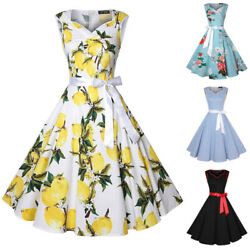 Womens Vintage 50s Sweetheart Sleeveless Party Cocktail Rockabilly Swing Dresses $16.99