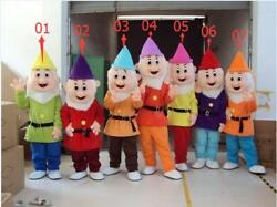 Halloween Mascot Costume Snow White And The Seven Dwarf Party Fancy Dress 2018 $65.60