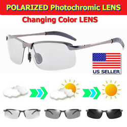 Photochromic Polarized Sunglasses Day and Night Driving Sports PhotochromicGlass $7.99