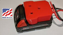 Milwaukee M18 Battery Adapter Holder Dock with Wires for Power Wheels Upgrade $16.79