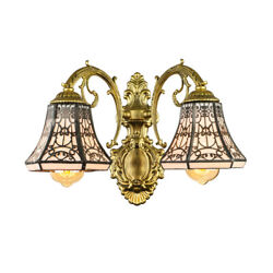 Victorian Style Vanity Lighting Wall Sconce Wall Lamp Fixture with Glass Shade $89.99
