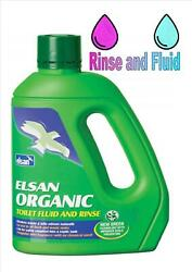 Elsan Organic Toilet Fluid 2 Litres Caravan and Camping Toilet Cleaner GBP 13.50