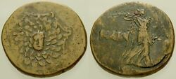 063. Greek Bronze Coin. AMISOS. AE-23. Aegis  Nike