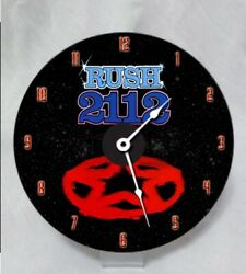 Hand crafted full color thermal print RUSH 2112 DVD Desk Clock. $13.99