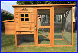 PETS IMPERIAL® LARGE MONMOUTH DELUXE WOODEN ASPHALT ROOF CHICKEN COOP HUTCH $399.99