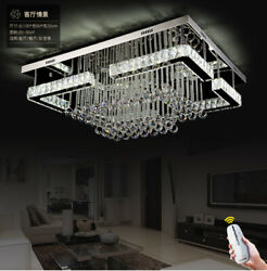 Rectangular living room lamp remote Dimmable LED crystal ceiling bedroom light $799.20
