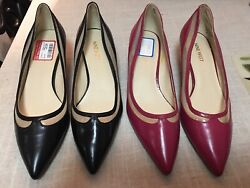 lot2 Pair Nine West Womens Dress Shoes Pumps Size 8 Red Worn Once Black New NWT $49.99
