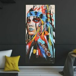Abstract Indian Woman Canvas Oil Painting Print Picture Home Wall Art Decor hot $10.33