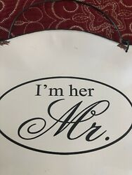 Mr amp; Mrs hanging signs $13.97