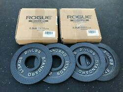 Olympic Weight Plate Set - Rogue Fitness - Cast Iron - (2) Pair of 2.5 lb plates $86.00