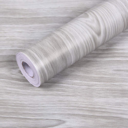 Gray Wood Contact Paper Countertop Decorative Vinyl Self Adhesive Film Wallpaper $9.24
