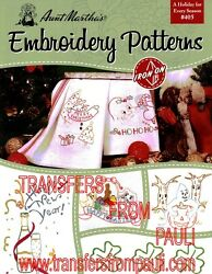 A Holiday for Every Season Aunt Martha#x27;s Hot Iron Embroidery Transfers Booklet $4.55