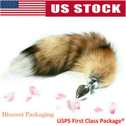 Cosplay Small Anal-Butt Stainless Steel Plug Artificial Fox Tail Role Playing US $7.69