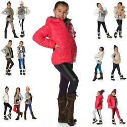 Girls Childrens Winter Leggings 2 Coloured Cotton Size 92 To 62 316in p880 $7.04