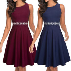 Womens Summer Sleeveless Cocktail Party Evening Wedding Guest Homecoming Dresses $16.99
