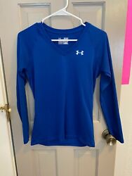 Under Women#x27;s XSmall Blue Long Sleeve V Neck Shirt $10.00