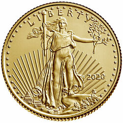 2020 $5 Gold American Eagle 1 10 oz. Brilliant Uncirculated $225.94