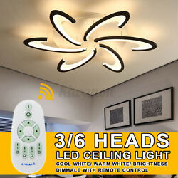 3 6 Head Modern LED Lamp Chandelier Ceiling Light For Living Room Bedroom Indoor $72.44