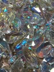 12pc Wholesale 1.5quot; 40mm Iridescent Rainbow Crystal Prisms Christmas Ornaments $20.00