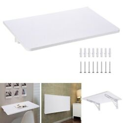 Wall Mounted Floating Folding Computer Desk PC Table Space Saving Home White $49.95