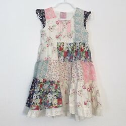 Cutey Couture Boho Dress Girls Size 4 5 Years New With Tags $22.78