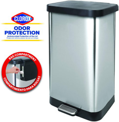 Stainless Steel Step Trash Can Extra Capacity Kitchen Bin Garbage 20 Gallon $119.99