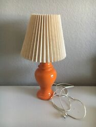 Vintage Original Mid Century Modern Burnt Orange Table Lamp 1960s Retro WORKING  $39.99