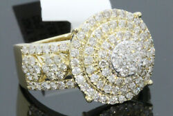 10K SOLID YELLOW GOLD 1.97 CARAT REAL DIAMOND ENGAGEMENT RING WEDDING PINKY BAND $749.00