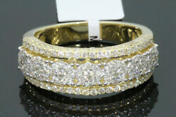 10K SOLID YELLOW GOLD 1.79 CARAT REAL DIAMOND ENGAGEMENT RING WEDDING PINKY BAND $699.00