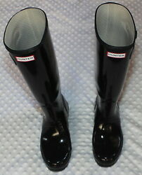 WOMENS HUNTER TALL 17 BLACK RUBBER BOOTS SIZE 7 $15.00