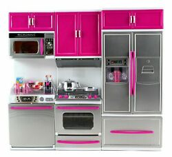 My Modern Kitchen Full Deluxe Kit Battery Operated Kitchen Playset: Refrigerator $32.95