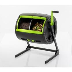 Composter Tumbler 65 Gal 2 Stage Adjustable Built In Air Vent Durable UV Protect $249.92