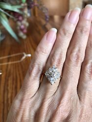14k Tru Glo Diamond Vintage Estate Ring $1250.00
