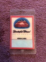 Grateful Dead Backstage Pass ACCESS ALL AREAS GO TO HEAVEN 1980'S LAMINATED