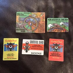 LOT OF *6* 1992 GRATEFUL DEAD BACKSTAGE PASSES Including rare puzzle!