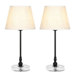 Bedside Lamps with Acrylic Base Small Nightstand Lamps for Bedrooms Table Lamp $33.99