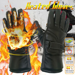 Rechargeable Waterproof Winter Electric Heated Gloves Motorcycle Riding ∴ a ↯ $33.25