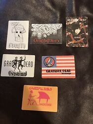 LOT OF *6* Undated GRATEFUL DEAD BACKSTAGE PASSES New Unused Genuine!